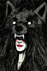 • Illustration wolf wolves wolf girl lyserwonderland •