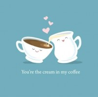 adorable, beautiful, coffe, couple, cream - inspiring picture