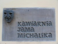 "The sign of the famous ""Jama Michalika"" café in Cracow 