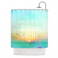 "Alison Coxon ""You Are My Sunshine"" Shower Curtain | KESS InHouse"