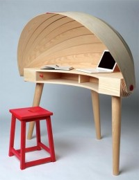 Duplex Workspace Retractable Hooded Desk by Sophie Kirkpatrick » Yanko — Designspiration