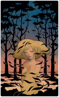 Wood Panel Paintings by Audrey Kawasaki | Inspiration Grid | Design Inspiration