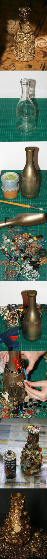 DIY Unwanted Things Decorated Bottle DIY Projects | UsefulDIY.com