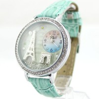 [grhmf215000020] Eiffel Tower Watch With Rhinestone