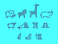Animal Icons by Aaron Eiland