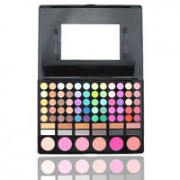 Wales 78 Colors Eye Shadow Lip Gloss Blusher Combine Palette #2 - makeupsuperdeal.com