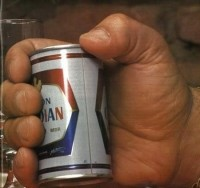 André The Giant Holds A Beer Can