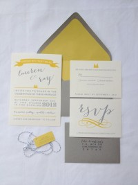 Grey and Yellow Wedding Invitation Suite. $3.75, ... | our real weddi…