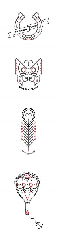 Pictograms & others / Outline Tattoos — Designspiration
