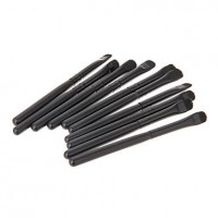 10pcs Mini Black Eyeshader Brush - makeupsuperdeal.com
