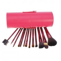 13 PCS Powder Blush Goat Hair Makeup Brush Cosmetic Brushes Set With Case - makeupsuperdeal.com