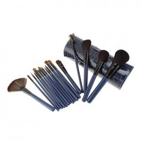 16Pcs High Quality Alligator Pattern Makeup Brush Set - makeupsuperdeal.com