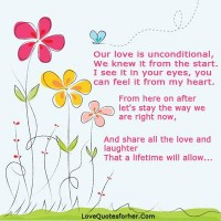 My love is unconditional quotes for her - Top Love Quotes for her