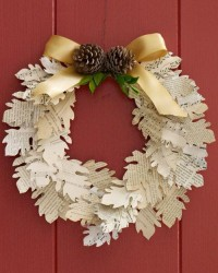 Paper Leaf Wreath....courtesy of Martha Stewart....template ... | aut…