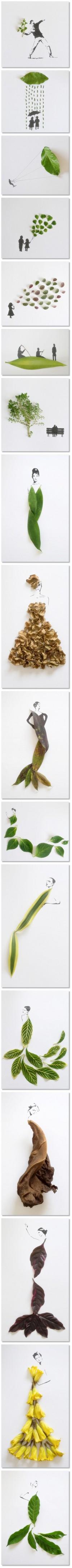 Creative Leaf Art