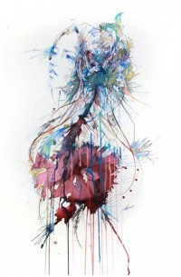 Ink, Tea & Alcohol by Carne Griffiths | koikoikoi