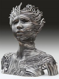 Flow: Stainless Steel Ribbon Sculptures by Gil Bruvel | Inspiration Grid | Design Inspiration