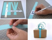 How to Make Paper Sign Gift Topper - DIY & Crafts - Handimania