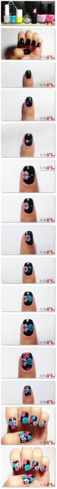Nail Art_flower pattern