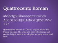 Quattrocento Roman Font - FreebiesXpress
