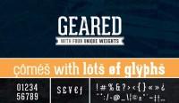 Geared Free Font - FreebiesXpress