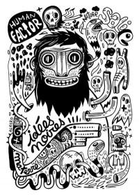 Idées noires Art Print by Exit Man | Society6