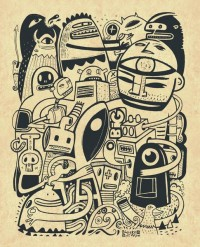 Big Art Print by Exit Man | Society6