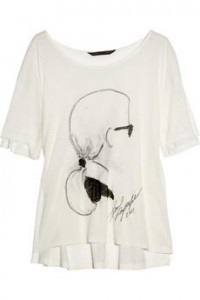Karl|Jacinda Karl-print jersey T-shirt|NET-A-PORTER.COM