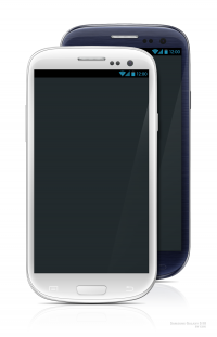 Samsung Galaxy S3 White & Black Mockup - FreebiesXpress