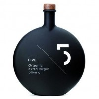FIVE Olive Oil bottles and packaging by World Excellent Products