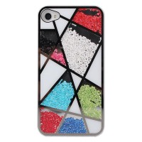 shego shopping mall — [grd03085] Colourful Sliding Polygon Mirror Hard Cover Case For Iphone 4/4s/5