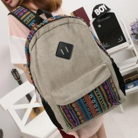 shego shopping mall — [grzxy6200010]Leisure Folk Style Floral Print Beige Backpack