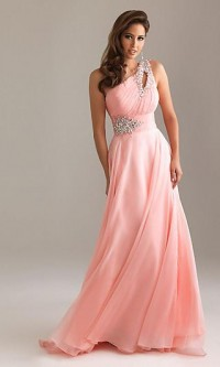 One Shoulder Prom Dresses, Night Moves Prom Gowns- Simply Dresses