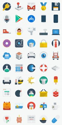 50 New Flat UI Design Icons - Download Free PSD and HTML
