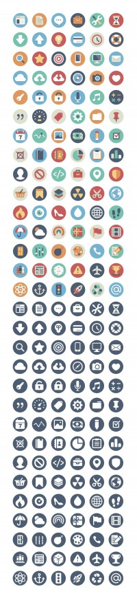 Beautiful Flat Icons – 260 Free & Open Source - FreebiesXpress
