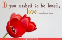 If you wish to be loved, love - Love Quotes for her