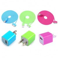 shego shopping mall — Total 6pcs/lot!USB Data Charging Cable Cord USB Power Adapter Wall Charger For Iphone 4/4s/5