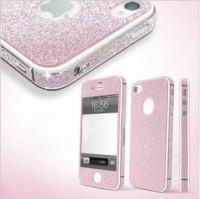shego shopping mall — Pink Shiny Rhinestone Full Body Cover Skin Sticker Shield For IPhone4/4s/5