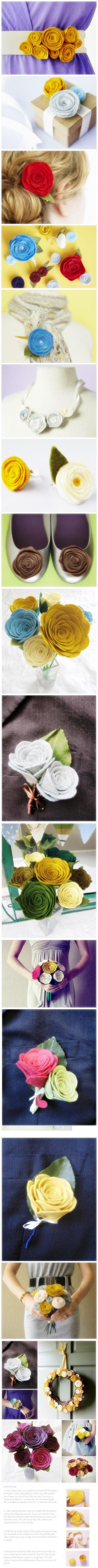 Hand Made Felt Wedding Decoration