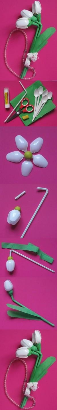DIY Disposable Spoon Flowers DIY Projects | UsefulDIY.com