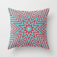 Christmas star Throw Pillow by Sylvia Cook Photography | Society6