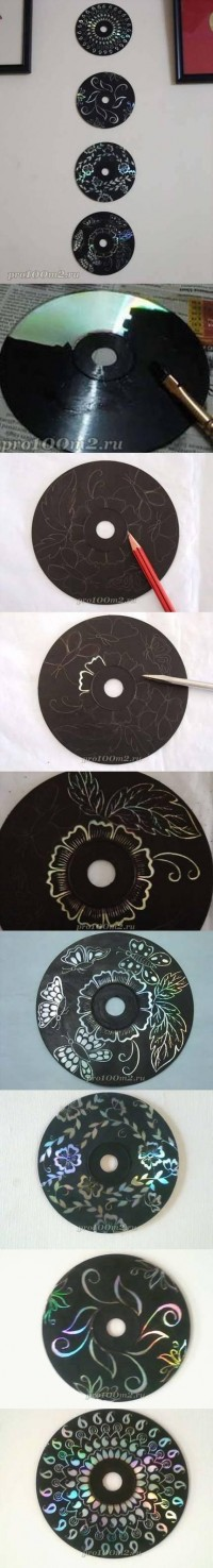 DIY Wall Decoration with CD DIY Projects | UsefulDIY.com