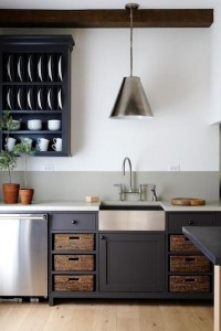 Dark cabinets, under mount sink(maybe for the ... | color schemes i l…