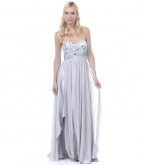 Silver Sequined Strapless Long Dress [v15s132] - $168.00 : Cheap Prom Dresses,Party Dresses,Evenning Dresses,etc...Online.