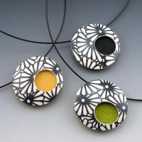 ModMums modern and simple polymer pendant on by StonehouseStudio