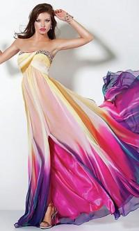 Strapless Print Ballkleider, Jovani prom Kleider - Kleider einfach