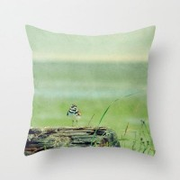 Look Out to Sea Throw Pillow Case Photography Home by RDelean