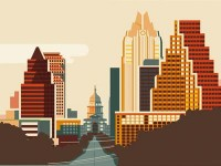 Austin city skyline by Kurtis Beavers