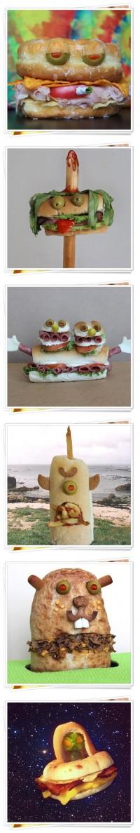 Food Art_sandwitch monster