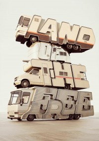 land of the free 3d typography